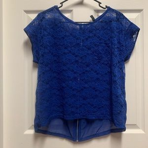 Divided by H&M Blue Lace Top 8